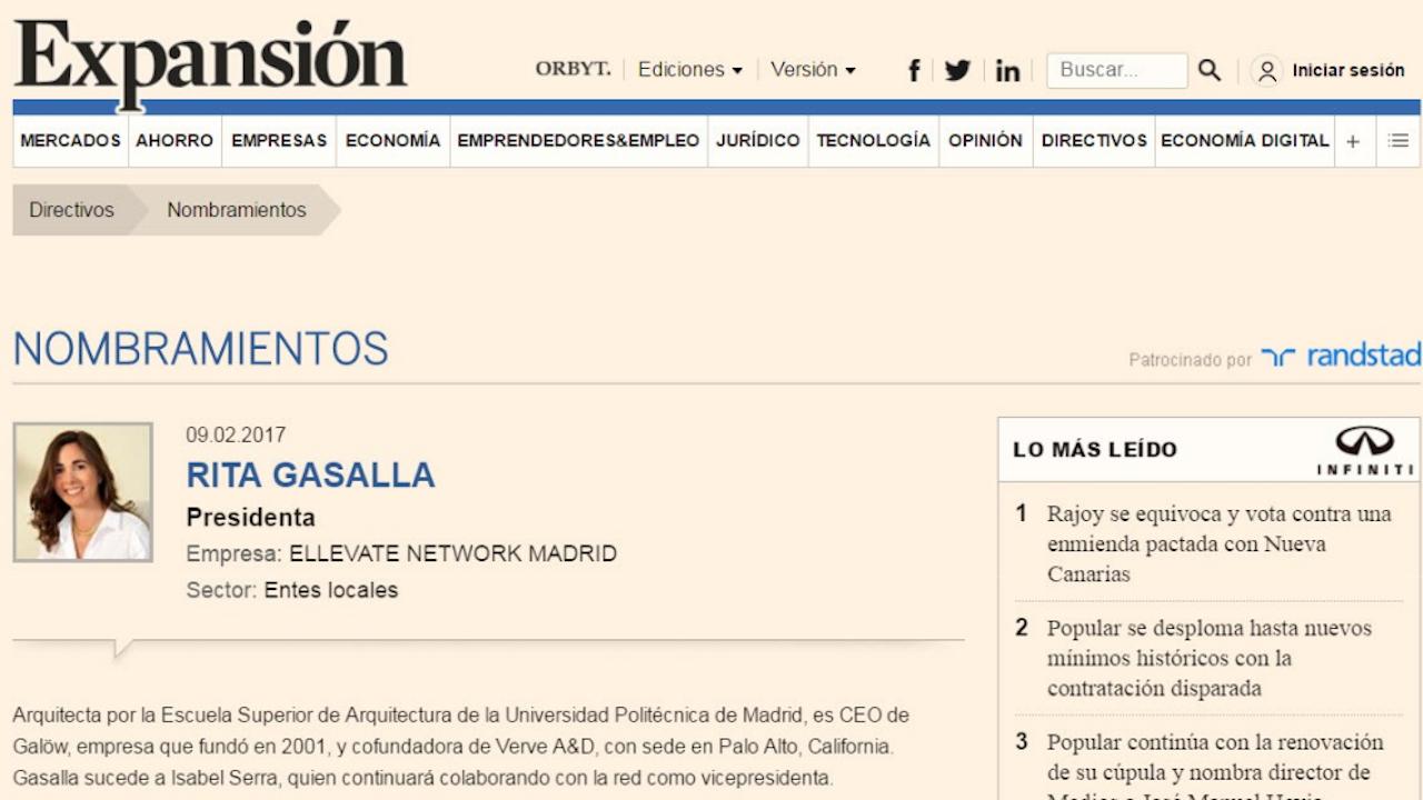 Expansion Nombramiento Rita Gasalla