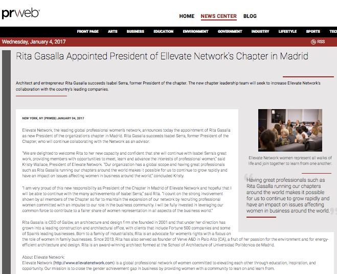 Rita Gasalla, Presidenta de Ellevate Network, enero 2017
