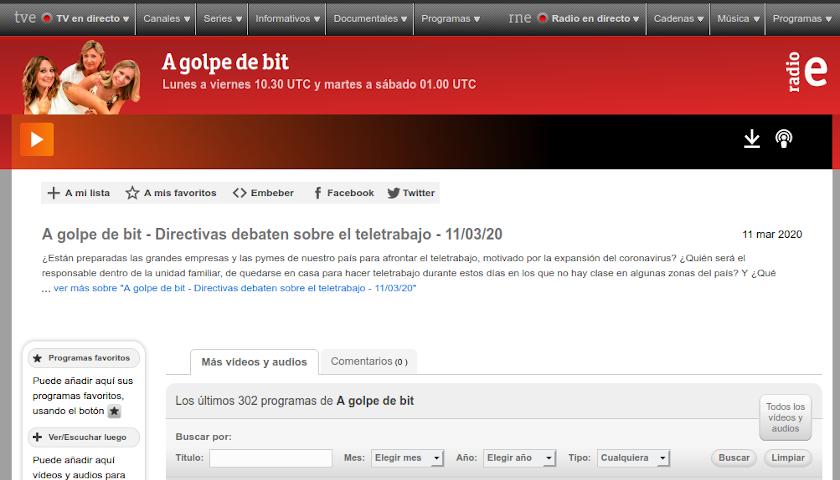 Teletrabajo - A golpe de bit - Radio exterior de España