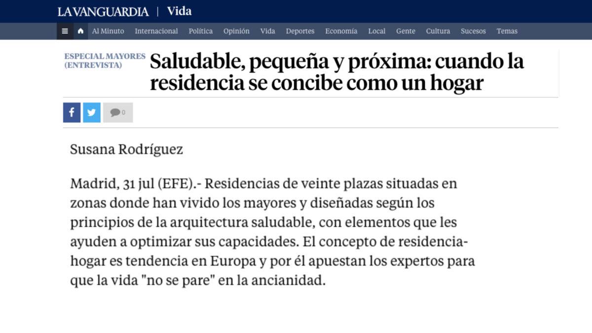 Saludable, pequeña y próxima: cuando la residencia se concibe como un hogar  – La Vanguardia