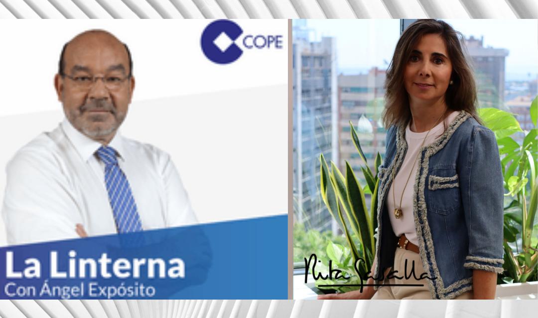 """""""Las empresas que tienen un espacio saludable acaban siendo más excelentes y competitivas"""".- Entrevista a Rita Gasalla en La Linterna de la COPE"""